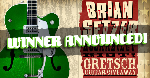 Brian Setzer Rockabilly Riot! Gretsch Guitar Giveaway Winner Announced